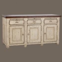 3 door 3 drawer kitchen cupboard provencal kitchen collection   freestanding provence kitchen      rh   kuchyne bohemian cz